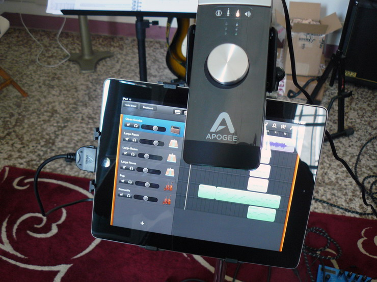 Apogee One - with iPad GBand
