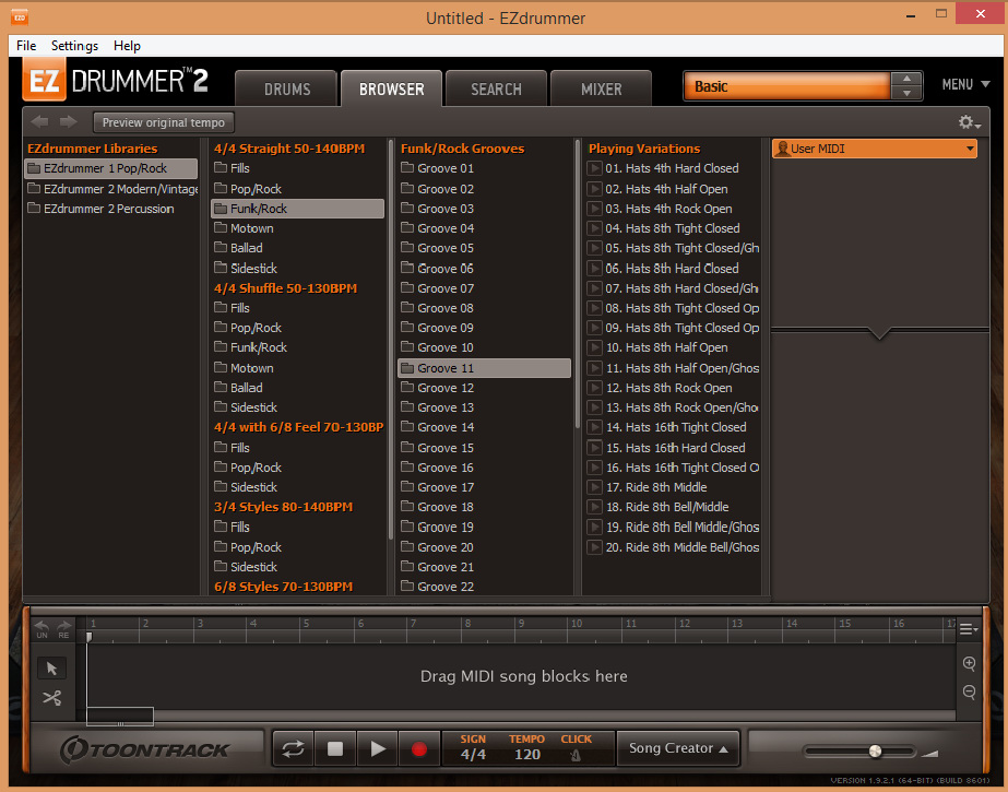 EZ Drummer 2 - Browser
