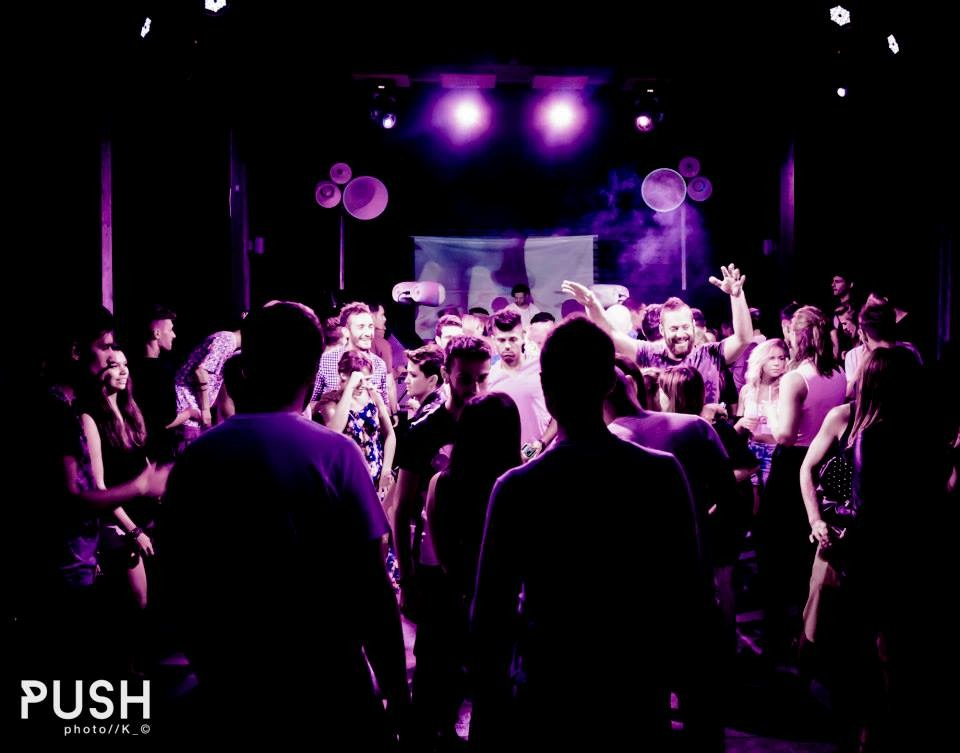 Il sound system VOID e la dancefloor del Push party