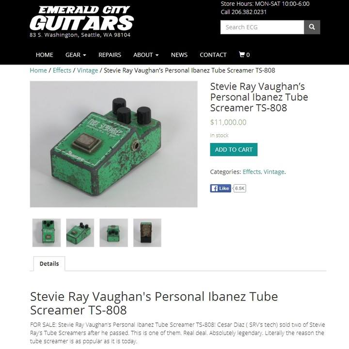 Ibanez TS9 - Stevie Ray